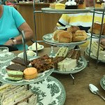 Sconeless afternoon tea