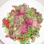 Salad with fresh tuna on top (very good!)