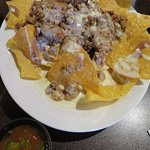 Nachos with ground beef and cheese