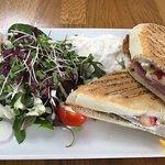 ham, brie w cranberry sandwich - Yummy!!