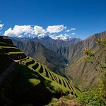 Landscape at an Inca archaeological sight