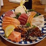 Sashimi dinner platter
