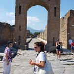 Pompeii tour with our guide. Very informative. Hot day no shade. Wear comfortable shoes.