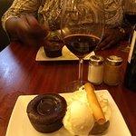 Chocolate souffle and ice cream. YUM!!!