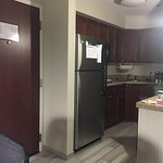 separate kitchen, room and living area. very roomy
