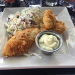 Walleye with cole slaw