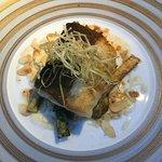 Baccala' con Mandorle e zucchini croccanti