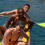 Paddle boarding in Gidaki Beach Ithaca