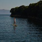 Early morning paddle board in Abelike Bay, Meganissi