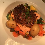 Salmon Fillet with a red pesto crust