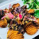 magret canard et chips de patates douces
