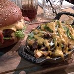 Burger and dirty fries!