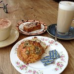 Coffee and cakes at Kitchenside bakery
