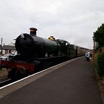 The train arriving at Watchet