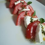 Local cheese with tomatoe and garlic