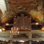 Taket i Kungälvs kyrka i Kungälv