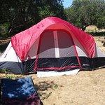 Tenda al camping di Manresa State Beach California