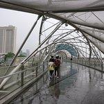 Helix Bridge On a rainy afternoon