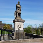 Monument of Robert the Bruce in front of Stirling Castle