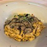 Fettucini and mushrooms