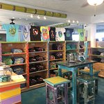 Shop for a souvenir t-shirt at the Lazy Days Trading Co.