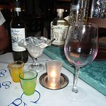 Wine and Limoncello.