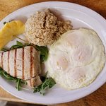 Big Kahuna breakfast $19: brown rice, grille ahi tuna, eggs