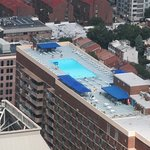 This is one of many rooftop pools you can see.