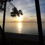 sunset on the lake !!