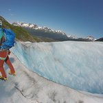 I think that's a crevasse on Exit Glacier, but I know that's Allie!