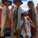 July Redfish and Gator Trout STILL BITING WELL For ICX Clients!!!