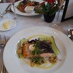 Artichoke plus Shetland salmon mains