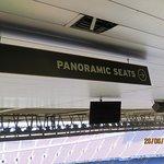 Upwards to the panoramic seats..