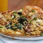 Paella - Fresh seafood and sausage.