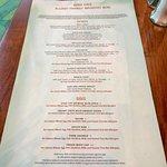 Allergy friendly menu