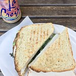 Awesome sandwich for lunch enjoyed outside on their patio!