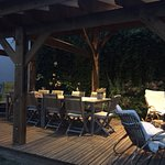 la terrasse en soirée
