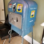 Old soda pop machine. Love it!