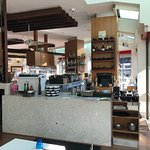 This is a great spot at darling  harbour for breakfast lunch or dinner fantastic food great staf