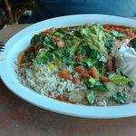 chicken burrito with guacamole