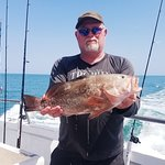 """24"""" grouper, was out on a charter"""
