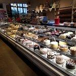 Dessert counter in market