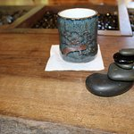 While enjoying a cup of hot tea you can stack these stones to help center the mind.
