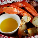 Stone crab claws and snow crab legs.