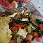 the inside of my veggie omelette