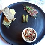 Charcuterie with Duck Terrine, Kangaroo and Chicken liver pate