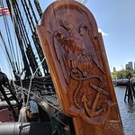 USS Constitution beautiful woodwork