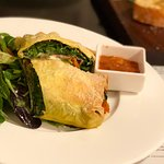 Nidi di Rondine: salami, cheese, and baby spinach wrapped in a pasta sheet.