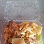 Roasted Chicken with Fries