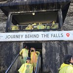 There's one tunnel that takes you directly behind the Falls and is narrow. This one takes you to